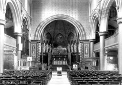 Cardiff, St Mary's Church Interior 1899