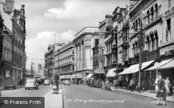 St Mary Street c.1955, Cardiff