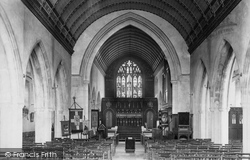 Cardiff, St Saviour's Church Interior 1899