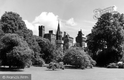 Cardiff, The Castle From Bute Park c.1960
