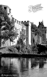 Cardiff, The Castle Wall c.1955