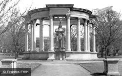 Cardiff, The War Memorial, Cathays Park c.1955