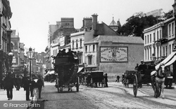 Cardiff, Traffic In Queen Street 1893