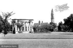 Cardiff, Welsh National War Memorial And City Hall c.1955