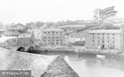 Cardigan, The River And Bridge c.1955