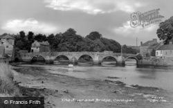 The River And Bridge c.1955, Cardigan