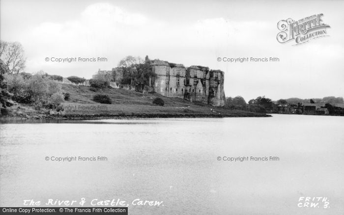 Photo of Carew, The River And Castle c.1960