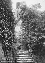 Carisbrooke, Castle, The Keep Steps 1890