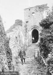 Carisbrooke, Castle, The Keep Steps c.1880