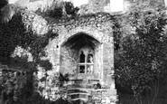 Carisbrooke, Castle, the Window of Isabella de Fortibus c1880