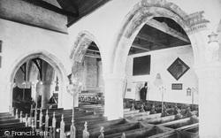 Carisbrooke, Church Interior 1913