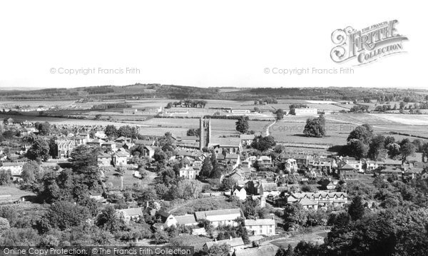 Carisbrooke, from the Castle c1955