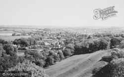 Carisbrooke, View Towards Newport From Castle c.1960