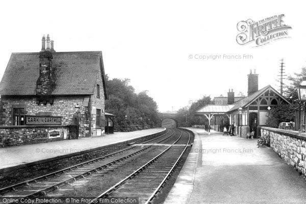 Cark In Cartmel, the Railway Station 1903