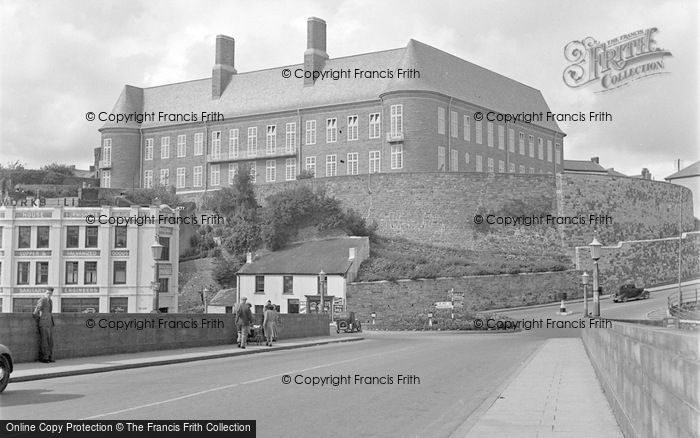 Photo of Carmarthen, Castle Hill And Municipal Buildings 1950