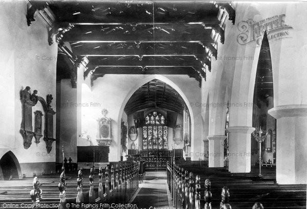 Photo of Carmarthen, Church Interior 1898