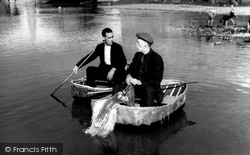 Carmarthen, Coracle Men c.1950