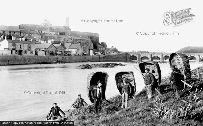 Carmarthen, Coracles 1898