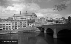 County Hall And Bridge 1962, Carmarthen