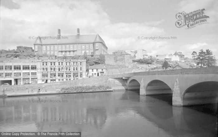Photo of Carmarthen, County Hall And Bridge 1962