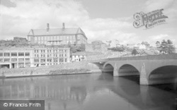 Carmarthen, County Hall And Bridge 1962