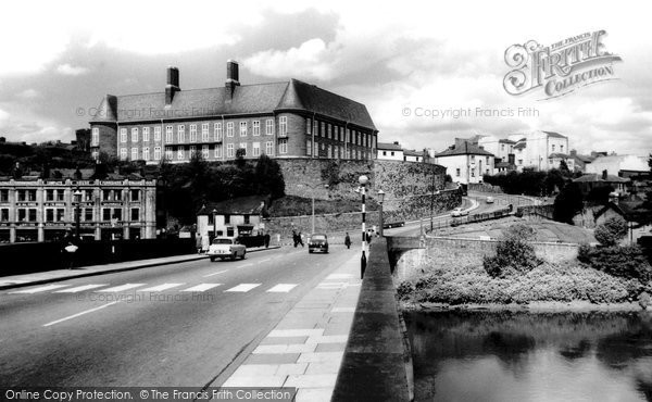 Photo of Carmarthen, County Hall And Castle Hill 1962
