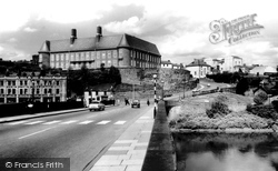 Carmarthen, County Hall And Castle Hill 1962
