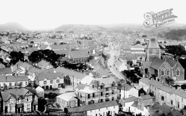 Carmarthen, from St David's Church Tower 1910