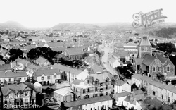 Carmarthen, From St David's Church Tower 1910