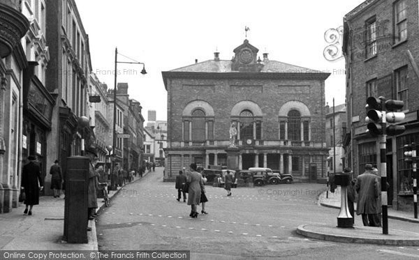 Photo of Carmarthen, Guildhall And Square 1949