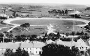 Carmarthen, Recreation Ground From The Church 1910