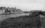 Carmarthen, River Towy And Bridge 1910
