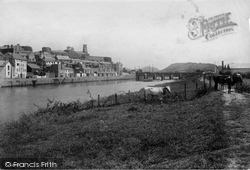 Carmarthen, River Towy And Bridge 1910