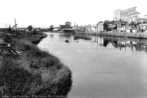 Photo of Carmarthen, River Towy From Bridge 1910