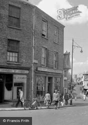 Shops In Guildhall Square 1949, Carmarthen