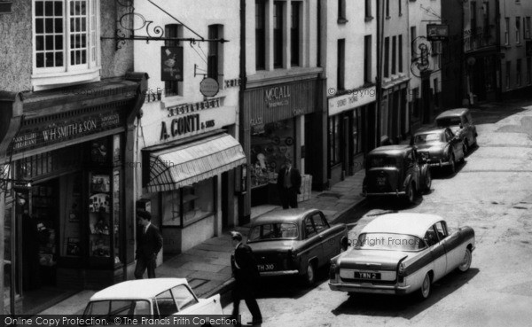 Photo of Carmarthen, Shops In Nott Square 1962