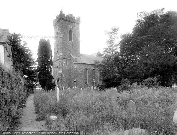 Photo of Carmarthen, St David's Church 1925