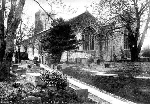 Photo of Carmarthen, St Peter's Church 1898