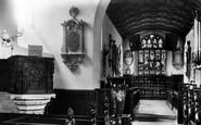 Carmarthen, St Peter's Church, Interior 1898