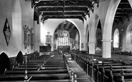 Carmarthen, St Peter's Church Interior 1925