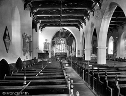 Carmarthen, St Peter's Church Interior 1925