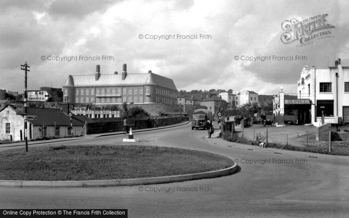 Photo of Carmarthen, The Bridge And Municipal Buildings 1950