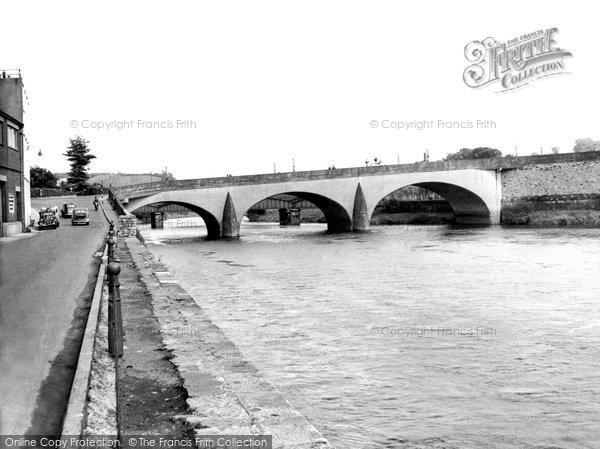 Photo of Carmarthen, The Bridge c.1950