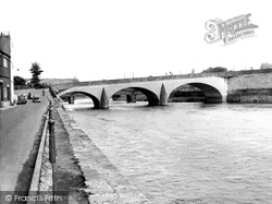 Carmarthen, The Bridge c.1950
