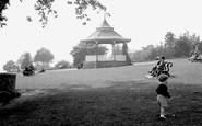 Carmarthen, The Park Bandstand 1949