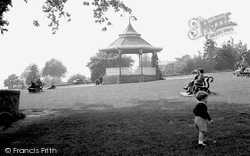 Carmarthen, The Park Bandstand 1949