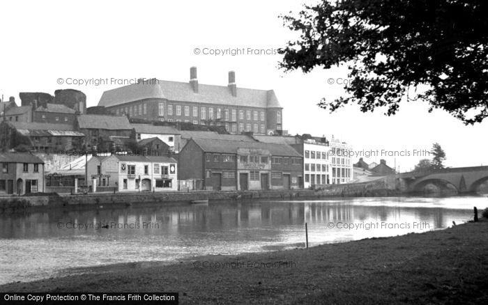 Photo of Carmarthen, View From Riverside Walk 1949