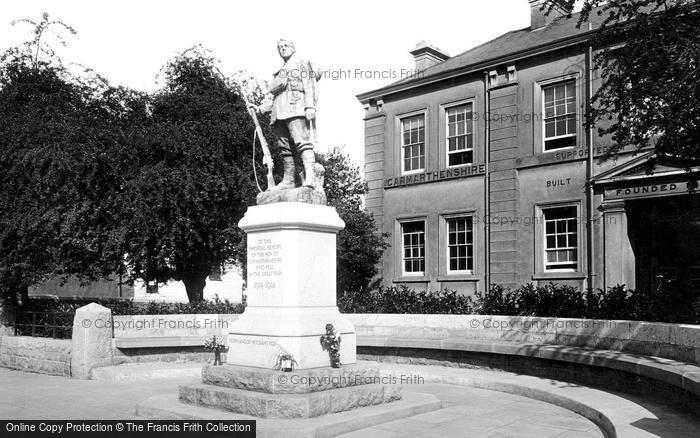 Photo of Carmarthen, War Memorial And Infirmary 1925