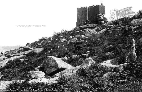 Photo of Carn Brea, Castle 1891