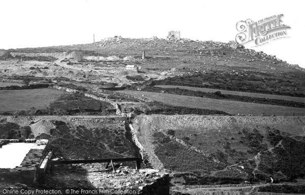 Photo of Carn Brea, The Castle 1890